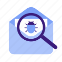 bug, cybersecurity, databreach, hacking, malware icon