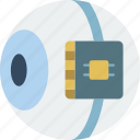 cybernetics, eye, implant, retina icon