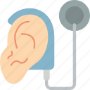 cochlear, cybernetics, implant icon