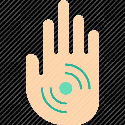 cybernetics, hand, implant, rfid icon