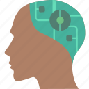 android, cybernetics, head icon