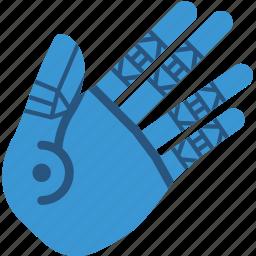 cybernetic, cybernetics, hand icon