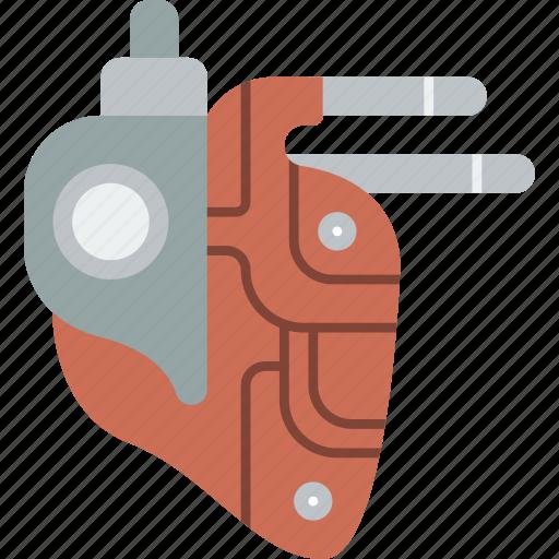 cybernetic, cybernetics, heart icon