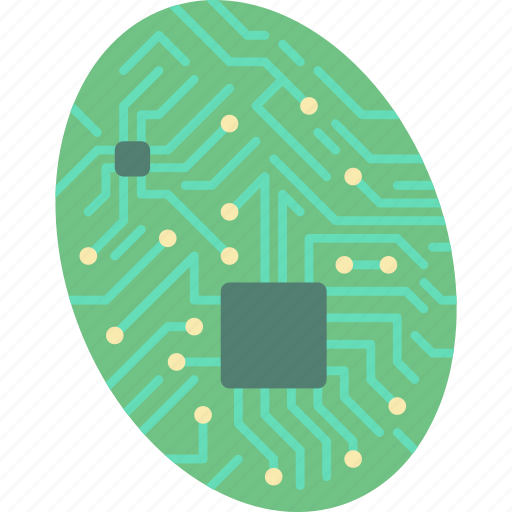cybernetic, cybernetics, fingerprint icon