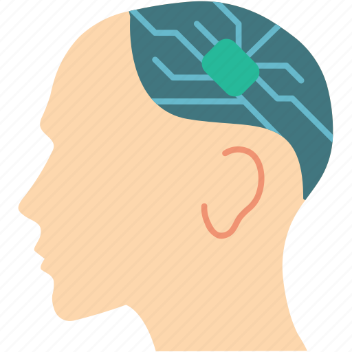 brain, cybernetics, implant icon