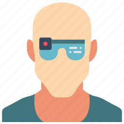 cybernetic, cybernetics, glasses icon