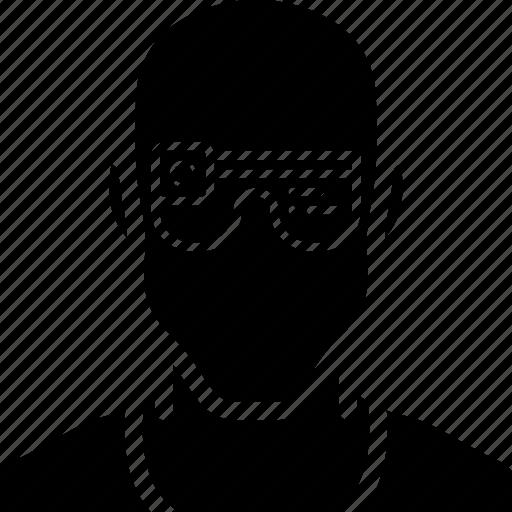 cybernetic, cybernetics, glasses icon