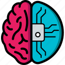 brain, cortex, cybernetics, implant, partial icon