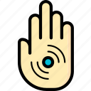 cybernetics, hand, implant, rfid icon