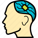 brain, cybernetics, implant icon