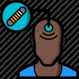 cybernetics, implant, rfid icon