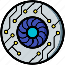 cybernetic, cybernetics, eye icon