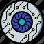 cybernetic, cybernetics, eye icon