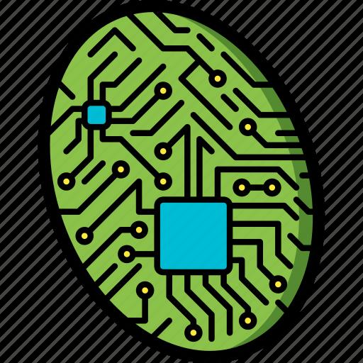 Cybernetic, cybernetics, fingerprint icon - Download on Iconfinder