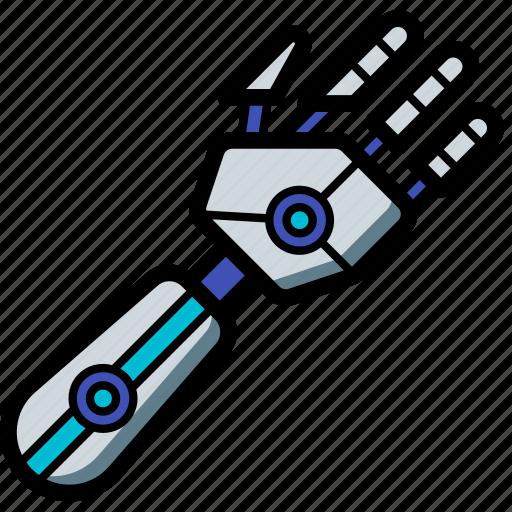 arm, cybernetic, cybernetics icon