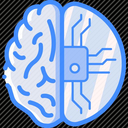 brain, cortex, cybernetics, implant, partial icon