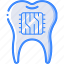 cybernetics, implant, supertooth, tooth icon
