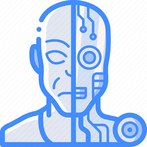Android, cybernetics, partial icon - Download on Iconfinder