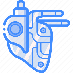 cybernetic, cybernetics, heart icon