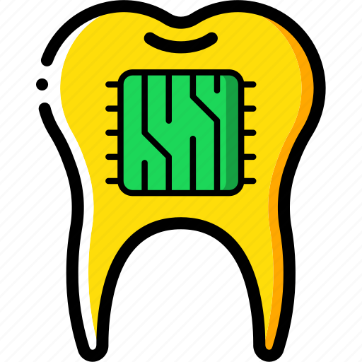 Cybernetics, implant, supertooth, tooth icon - Download on Iconfinder