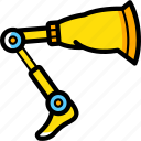 cybernetic, cybernetics, leg icon