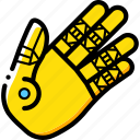 cybernetic, cybernetics, hand icon