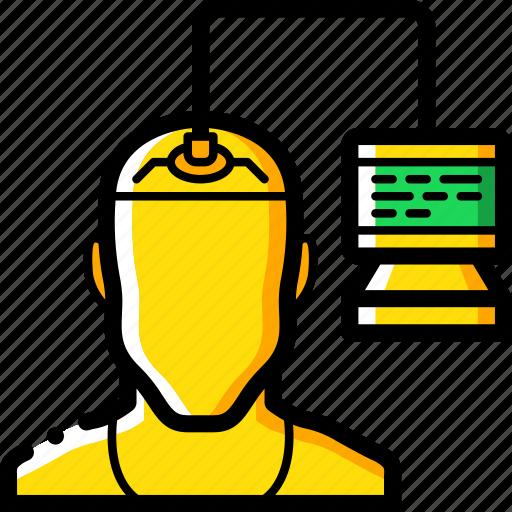 brain, cybernetics, transfer icon
