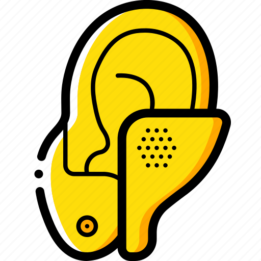 cybernetics, hearing, implant icon