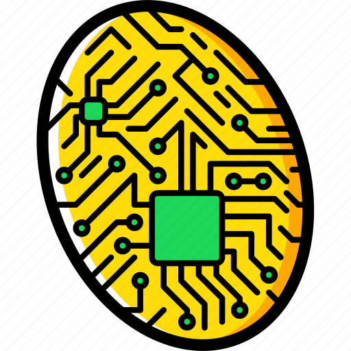 cybernetic, cybernetics, fingerprint icon