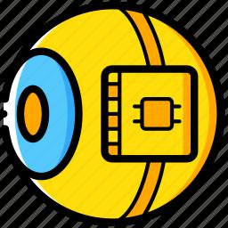 cybernetics, eye, implant, retina icon