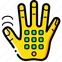 cellular, cybernetics, hand icon