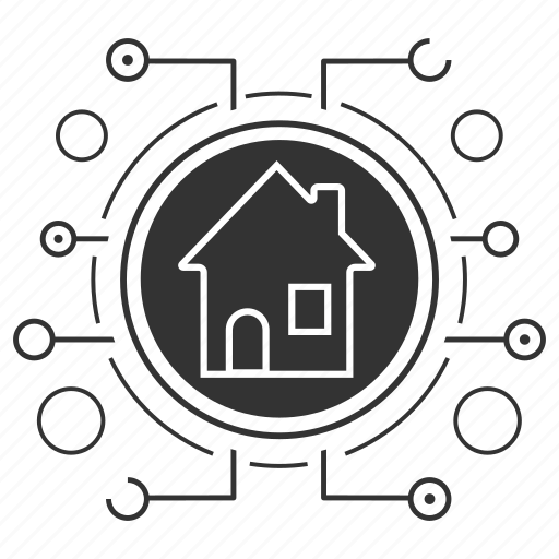 building, cyber, home, home page, homepage, house icon