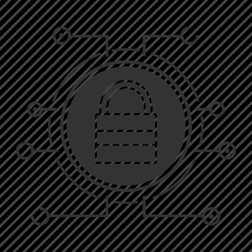 block, cyber security, defense, lock, padlock, password, privacy icon