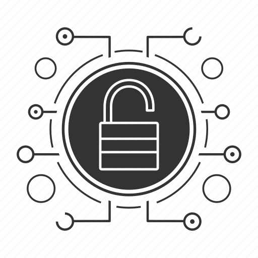 cyber security, padlock, password, privacy, protection, unlock, unlocked icon