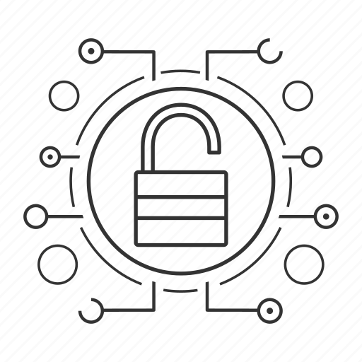 cyber security, padlock, password, privacy, protection, unlock, unlocked icon