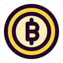 bitcoin, blockchain, coin, crypto, cryptocurrency, digital, finance icon