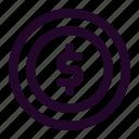 blockchain, coin, crypto, cryptocurrency, dollar, money icon