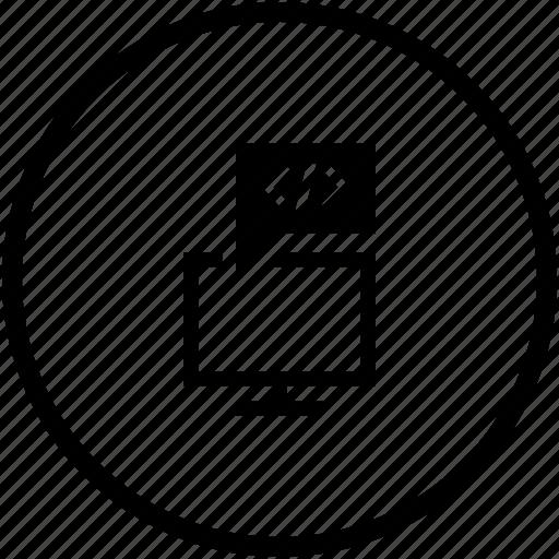 code, comment, program, screen, script, source icon