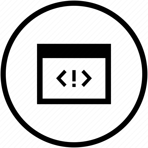code, error, program, source, tag, window icon