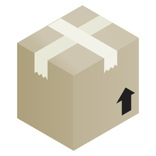 box, brown, cardboard, package icon