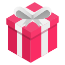 box, gift, pink, ribbon icon