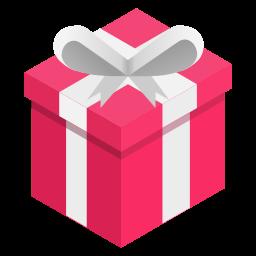 box, gift, pink, ribbon icon