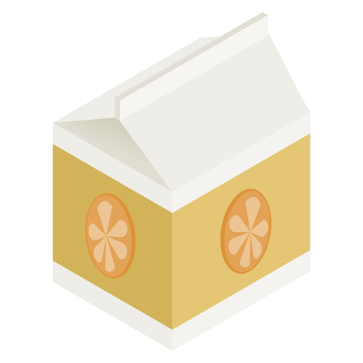 juice, orange, pack icon