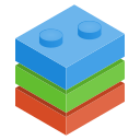 bricks, play icon