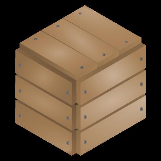 box, sealed, wood icon