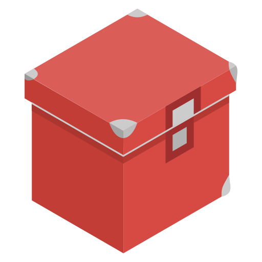 box, red, storage, tools icon