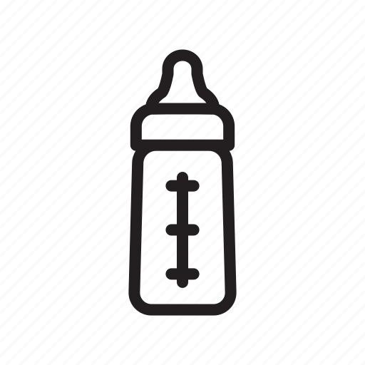 baby, bottle, drink, nipple, outline, pacifier, tool icon