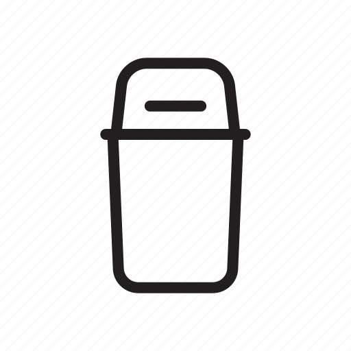 dustbin, house, outline, rubbish, tool, trash icon