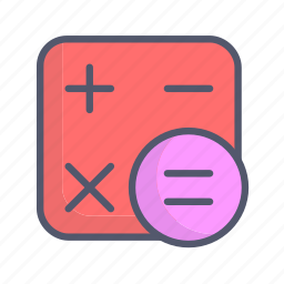 calculation, calculator, counting icon