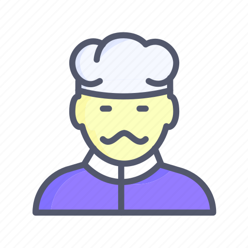 catering staff, chief, cook, food, food maker icon